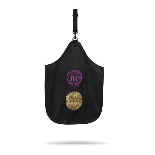Horse Hay Bag Color - Fuchsia Logo