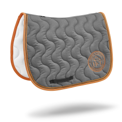 Jumping Saddle Pads - Taupe Orange