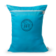 Equestrian Laundry Bag Dirty Bag - Blue Turquoise / Black Logo