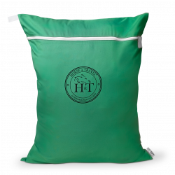Equestrian Laundry Bag Dirty Bag - Green Neon / Black Logo