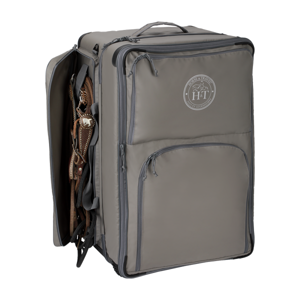 Western tack case with bridel compartments Travel Bag Western Silver