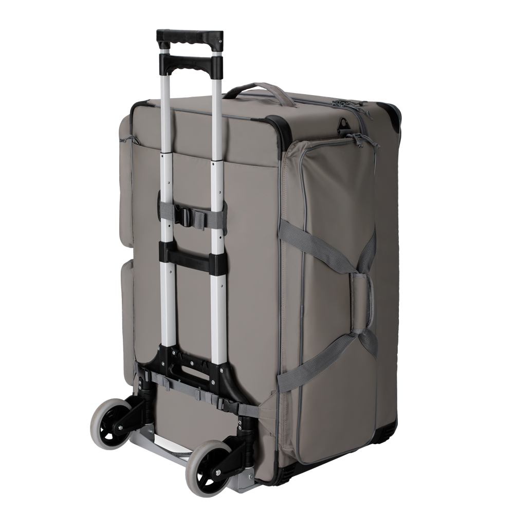 Travel Bag Wester Silver with its trolley
