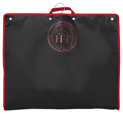 Horse Riding Garmet Bag Jack The Cover Black and Red Logo
